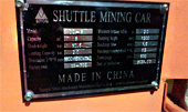 The Shuttle Mining Car Is Exported To Canada